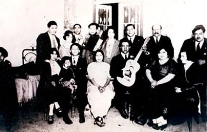 mi abuelo Narciso Campos (guitarra) y mi abuela Mercedes Cossío (segunda de la derecha)